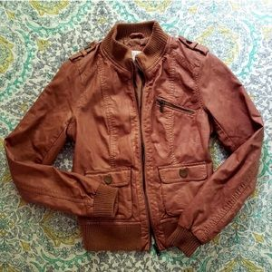 Faux Leather camel/Tan/light brown  jacket